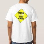 artist at work sign t shirt