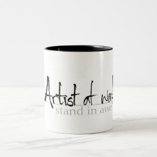 Artist at work Two-Tone coffee mug