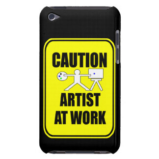 artist at work warning sign phone cover