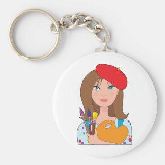 Artist Basic Round Button Keychain