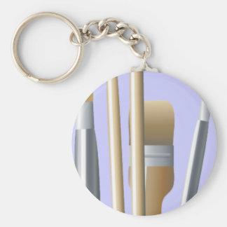 Artist Brushes Key Chain