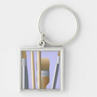 Artist Brushes Premium Key Chain