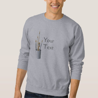 Artist Brushes Pullover Sweatshirt