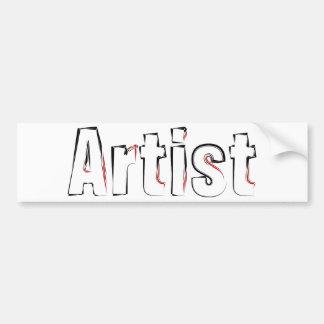Artist Car Bumper Sticker