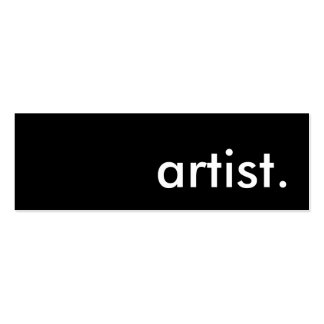 artist. Double-Sided mini business cards (Pack of 20)