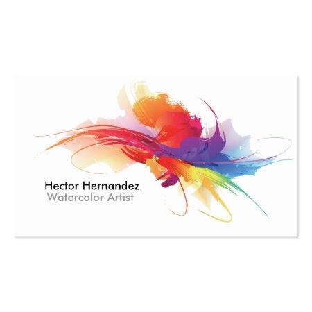 Water Color Splash Artist Business Cards