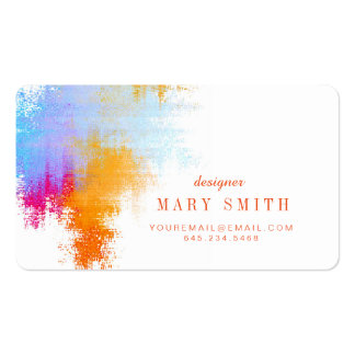 Artist Business Card Round Corners