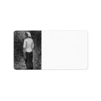 Artist by Georges Seurat Custom Address Labels