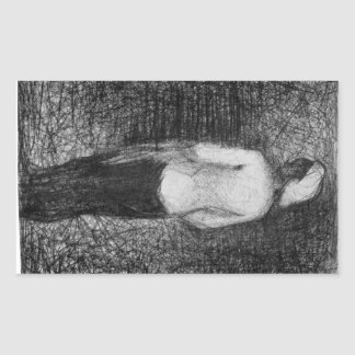 Artist by Georges Seurat Rectangular Sticker