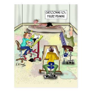 Artist Cartoon 9393 Postcard