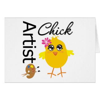 Artist Chick Greeting Card