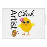 Artist Chick Greeting Card