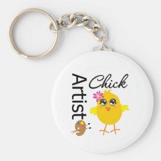 Artist Chick Keychain