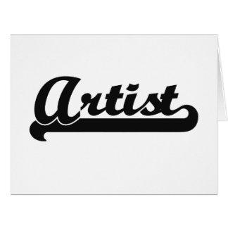 Artist Classic Job Design Large Greeting Card
