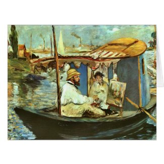 Artist Claude Monet 1874 Large Greeting Card