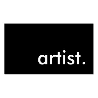 artist. (color customizable) Double-Sided standard business cards (Pack of 100)