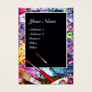 ARTIST COLOR PALETTE MONOGRAM Painter,Art Supplies Business Card