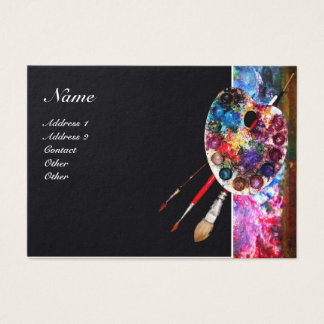 ARTIST COLOR PALETTE / Painter,Fine Art Materials Business Card