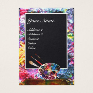 ARTIST COLOR PALETTE Painter,Fine Art Materials Business Card