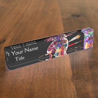 ARTIST COLOUR PALETTE ,black Nameplate