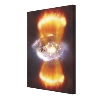 Artist concept of a galaxy canvas print