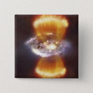 Artist concept of a galaxy pinback button