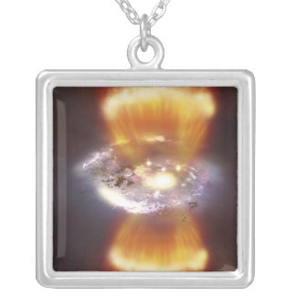 Artist concept of a galaxy square pendant necklace
