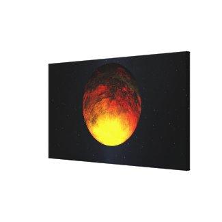 Artist concept of Kepler-10b Canvas Print