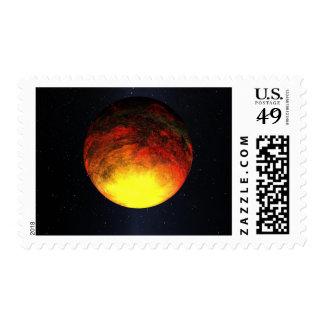 Artist concept of Kepler-10b Postage