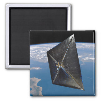 Artist concept of NanoSail-D in space 2 Inch Square Magnet