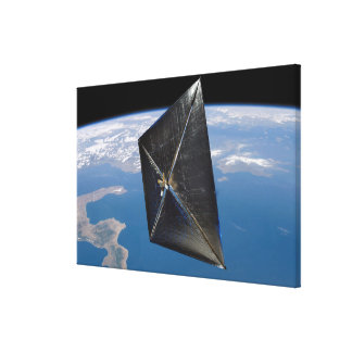 Artist concept of NanoSail-D in space Canvas Print
