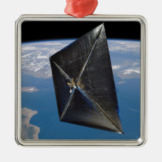 Artist concept of NanoSail-D in space Metal Ornament
