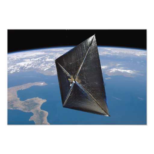 Artist concept of NanoSail-D in space Photo Art