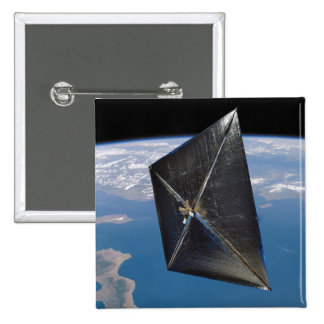Artist concept of NanoSail-D in space Pinback Button