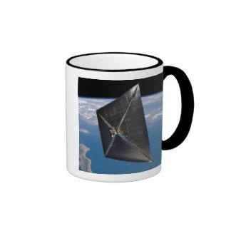 Artist concept of NanoSail-D in space Ringer Mug