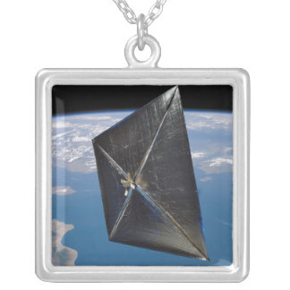 Artist concept of NanoSail-D in space Square Pendant Necklace