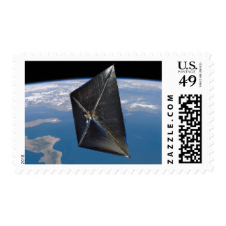 Artist concept of NanoSail-D in space Stamp