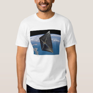 Artist concept of NanoSail-D in space T-shirt