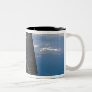 Artist concept of NanoSail-D in space Two-Tone Coffee Mug