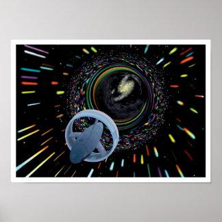 Artist concept Spacecraft Alcubierre Warp Drive Poster
