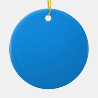 Artist Created Blue Color Shade :Add txt n image Double-Sided Ceramic Round Christmas Ornament