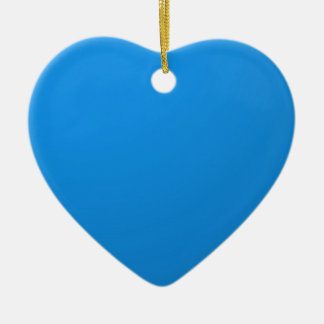 Artist Created Blue Color Shade :Add txt n image Double-Sided Heart Ceramic Christmas Ornament