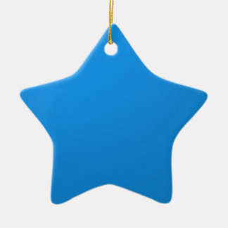 Artist Created Blue Color Shade :Add txt n image Double-Sided Star Ceramic Christmas Ornament
