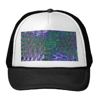 Artist created BLUE SPARKLE WAVES template DIY FUN Trucker Hat