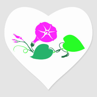 Artist Created Color Shades on HEART SHAPED Heart Sticker