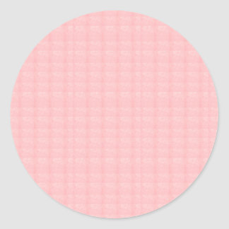 Artist created CRYSTAL pink rose TEMPLATE Blank gi Classic Round Sticker