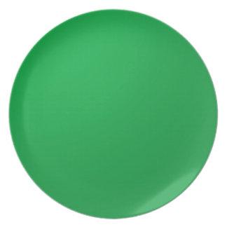 Artist created DIY Template Background Green Theme Dinner Plate