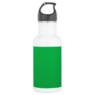 Artist created Green Shade: Add text Greeting |Img Water Bottle