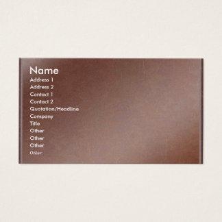 Artist Created Handmade Copper Sheet Business Card