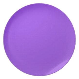 Artist created Purple Color Tone: Add txt n image Dinner Plate